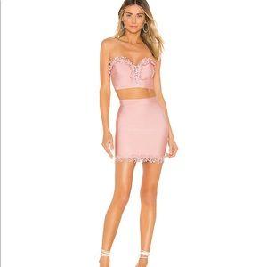 Superdown Amina Bandage Pink Skirt Set